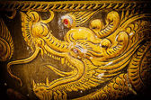 Chinese style Dragon statue texture background. — Stock Photo
