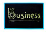 Kırpma yolu ile bir kara tahta üzerinde tebeşir ile el yazısıyla iş kelime. — Stok fotoğraf
