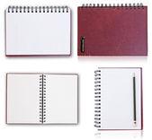 Set of notebook isolated. — Stockfoto