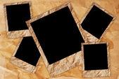 Cadre de photo vintage sur le fond de texture de papier vintage. — Photo