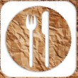 Vintage restaurant symbol isolated on the white. — Stock Photo