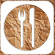 Vintage restaurant symbol isolated on the white. — Stockfoto