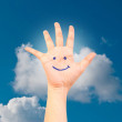 Smile on hand on the sky. — Stock Photo