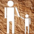 Vintage man and child symbol isolated on the white. — Stock Photo #10494797
