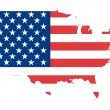 USA map background with flag. — Stock Photo #9640019