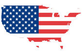 USA map background with flag. — Stock Photo