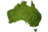 Australia map symbol from grass. — Stock Photo
