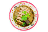 Duck noodle isolated with clipping path. — Stock Photo