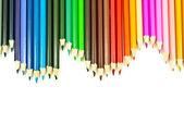 カラフルな鉛筆テクスチャ背景. — ストック写真
