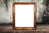 Photo frame on the wall texture. — Stock Photo