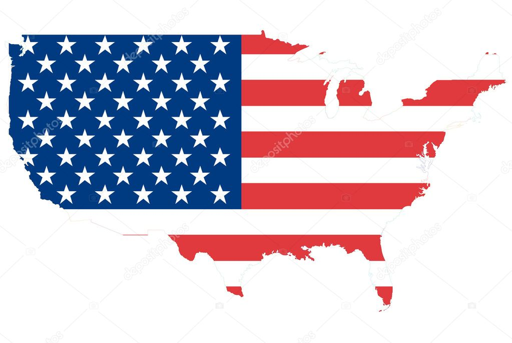 This map made from flag and map for education concept. — Stock Photo #9640019