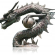Chinese style dragon statue isolated. — Stock Photo