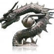 Chinese style dragon statue isolated. — Stock Photo #9681042