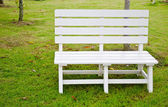 White chair in the park for rest and relax. — Stock Photo