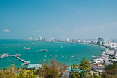 Pattaya City with cloud. — Stock Photo