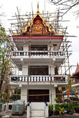 Building of temple under construction. — Stock Photo