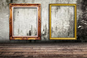 Photo frame on wall texture. — Stock Photo