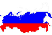 Russia map background with flag. — Stock Photo