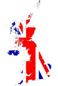 UK map background with flag. — Stock Photo