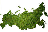 Russia map isolated on the white. — Stock Photo