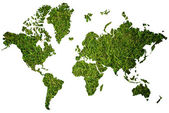 World map background with grass field. — Stock Photo