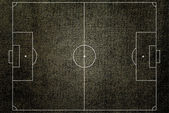 Soccer field texture with old fabric. — Stock Photo