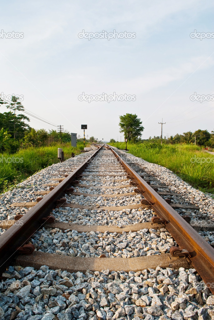 Image of railway for train transport. — Stock Photo #9750669