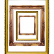 Many Photo frames isolated. — Stock Photo