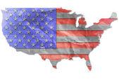 Bandera usa vintage papel grunge. — Foto de Stock