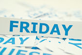 Friday word texture background. — Stock Photo