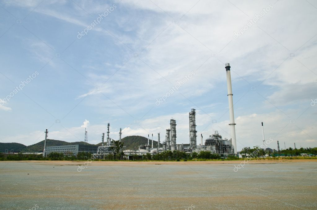 Image of power plant on the blue sky field. — Stock Photo #9770755