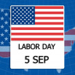 5 September Labor day. — Stock Photo