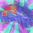 Stock Photo: Vintage Australiflag paper grunge.