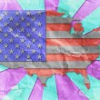 Stock Photo: Vintage USflag paper grunge.