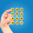 Hand pushing Icon. — Stok Fotoğraf #9797668