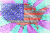 Vintage USA flag paper grunge. — Stock Photo