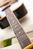 Detail of classic acoustic guitar. — Stock Photo