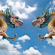 Royalty-Free Stock Photo: Dragon statue with the blue sky.