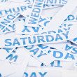 Saturday word texture background. — Stock Photo