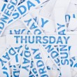 Thursday word texture background. — Stock Photo