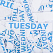 Tuesday word texture background. — Stock Photo