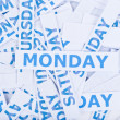 Stock Photo: Monday word texture background.