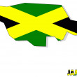 Jamaica map background with flag isolated. — Stock Photo