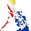 Philippines map isolated with flag. — Stock Photo #9823162