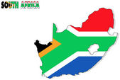 South Africa map isolated with flag. — Stock Photo