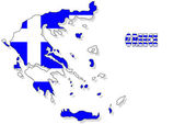 Greece map isolated with flag. — Stock Photo