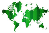 World map isolated with soccer field. — Stock Photo