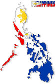 Philippines map isolated with flag. — Stock Photo