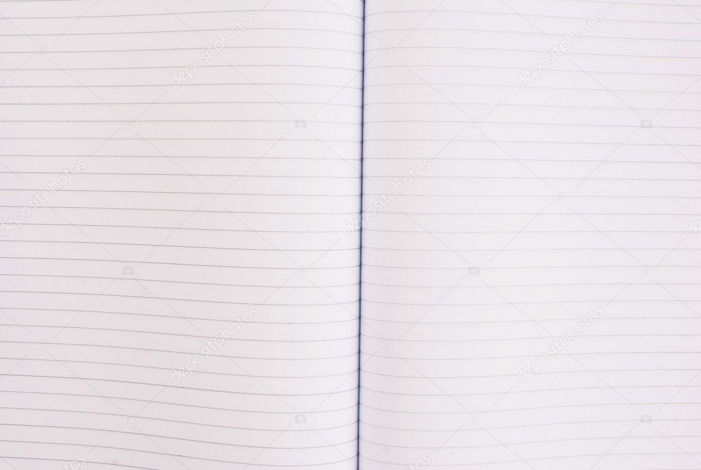 This notebook is so important to note everything. It's white pages. — Stock Photo #9821205