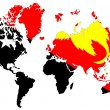 World map background with flag. — Stock Photo
